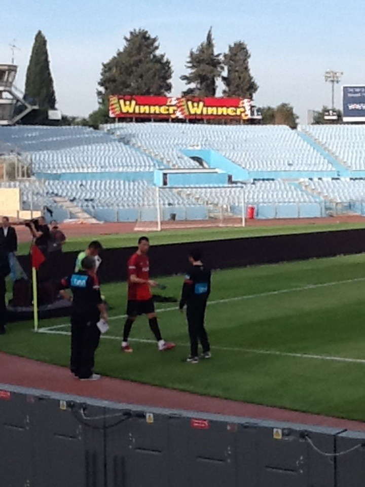 Ronaldo steps onto the Ramat Gan pitch in Israel!