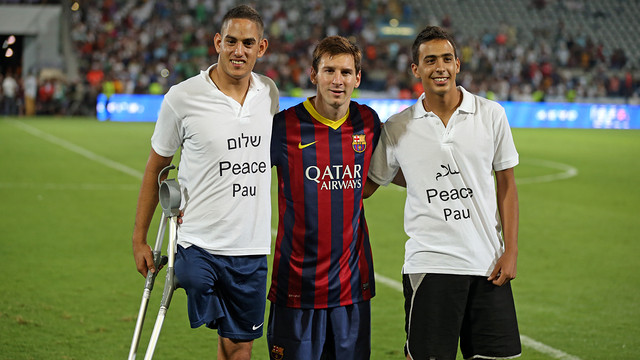 Leo Messi at Bloomfield Stadium-The Message that the Peres Center wanted to show the world