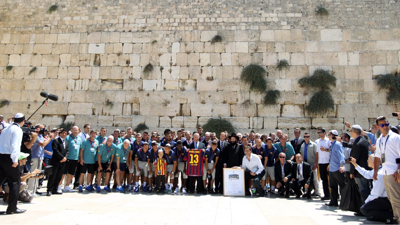 Barcelona at The Western Wall