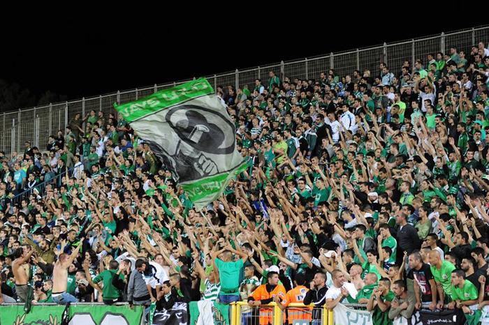 The Haifa fans in action-Maccabi Haifa Website
