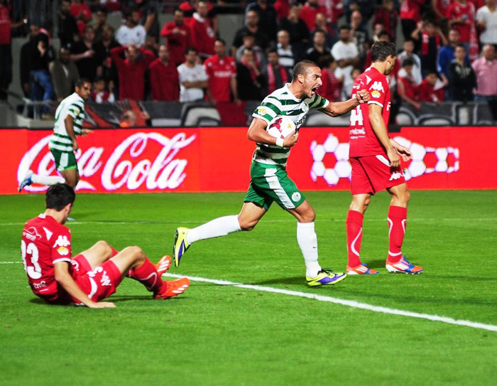 Shimon Abuheitzeira Celebrating his 1st goal of the year!-Courtesy Maccabi Haifa Website