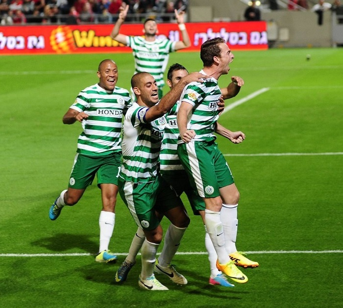 Ruben Rayos provided a Perfect Free Kick Goal! Courtesy Maccabi Haifa Website