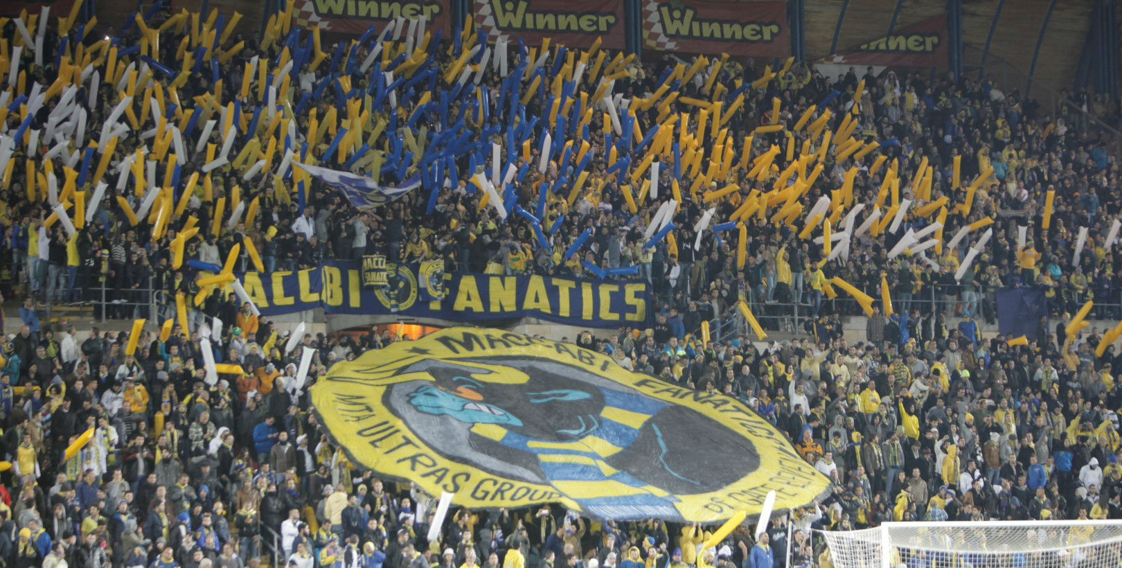 Maccabi Tel Aviv fans at Teddy Stadium-courtesy Maccabi Tel Aviv website
