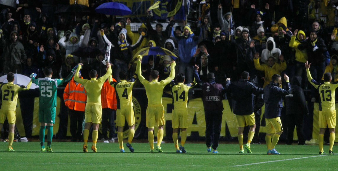 Maccabi Tel Aviv players celebrate-Maccabi Tel Aviv website