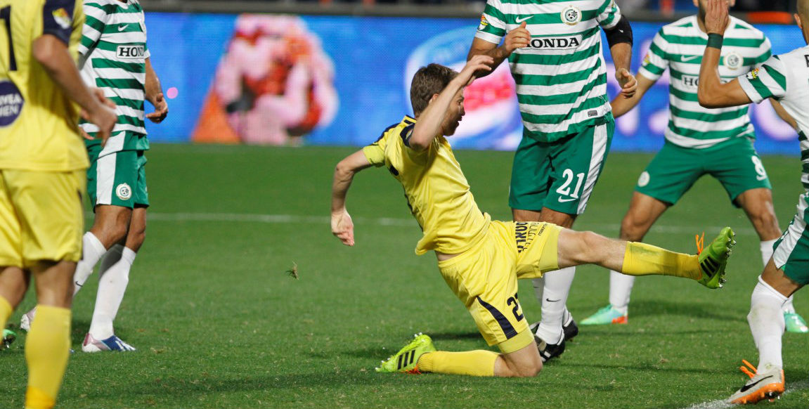Sheran Yeini scores! Courtesy Maccabi Tel Aviv website