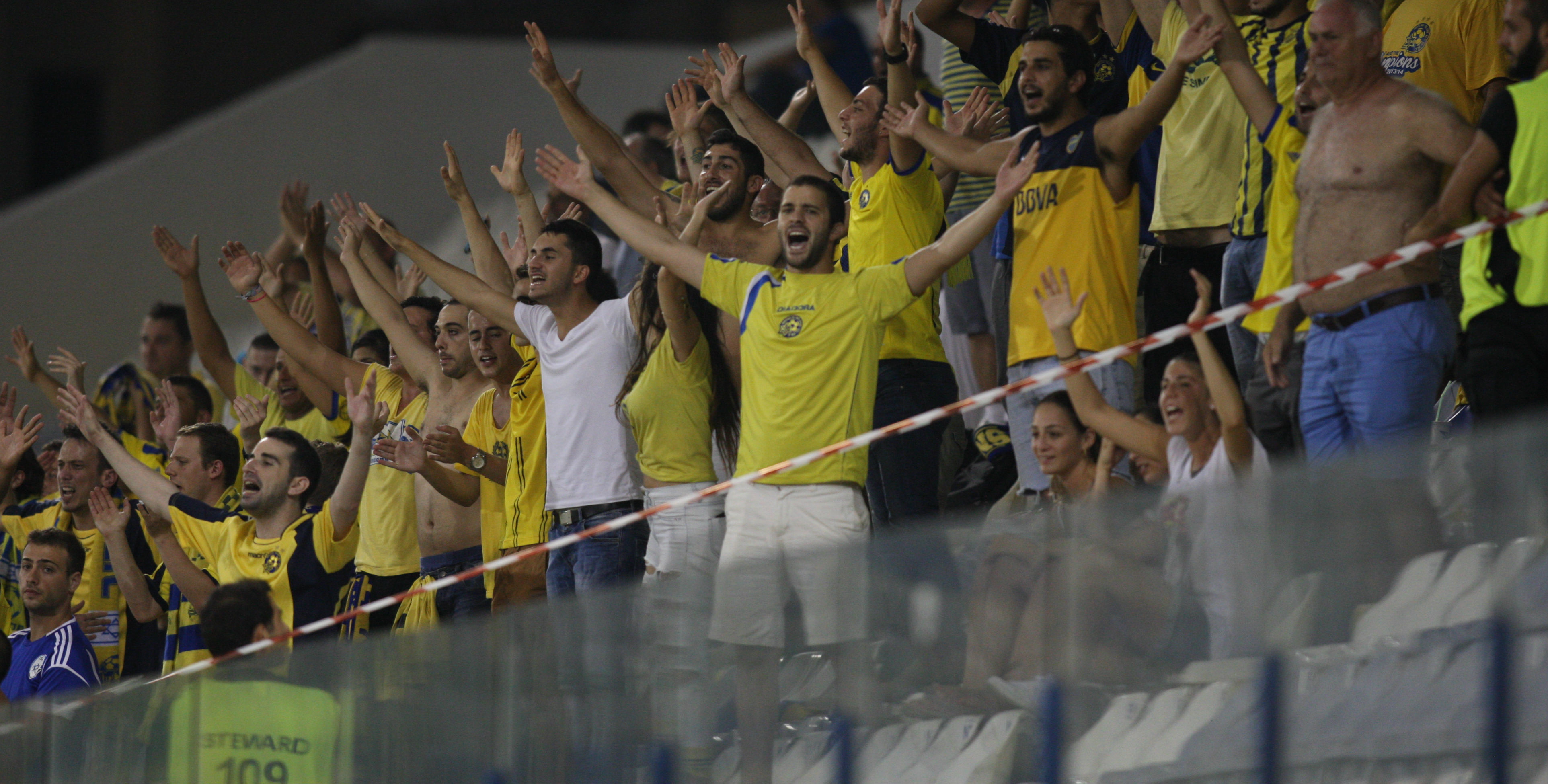 Maccabi Suppoters in Cyprus-Courtesy Maccabi Tel Aviv Website