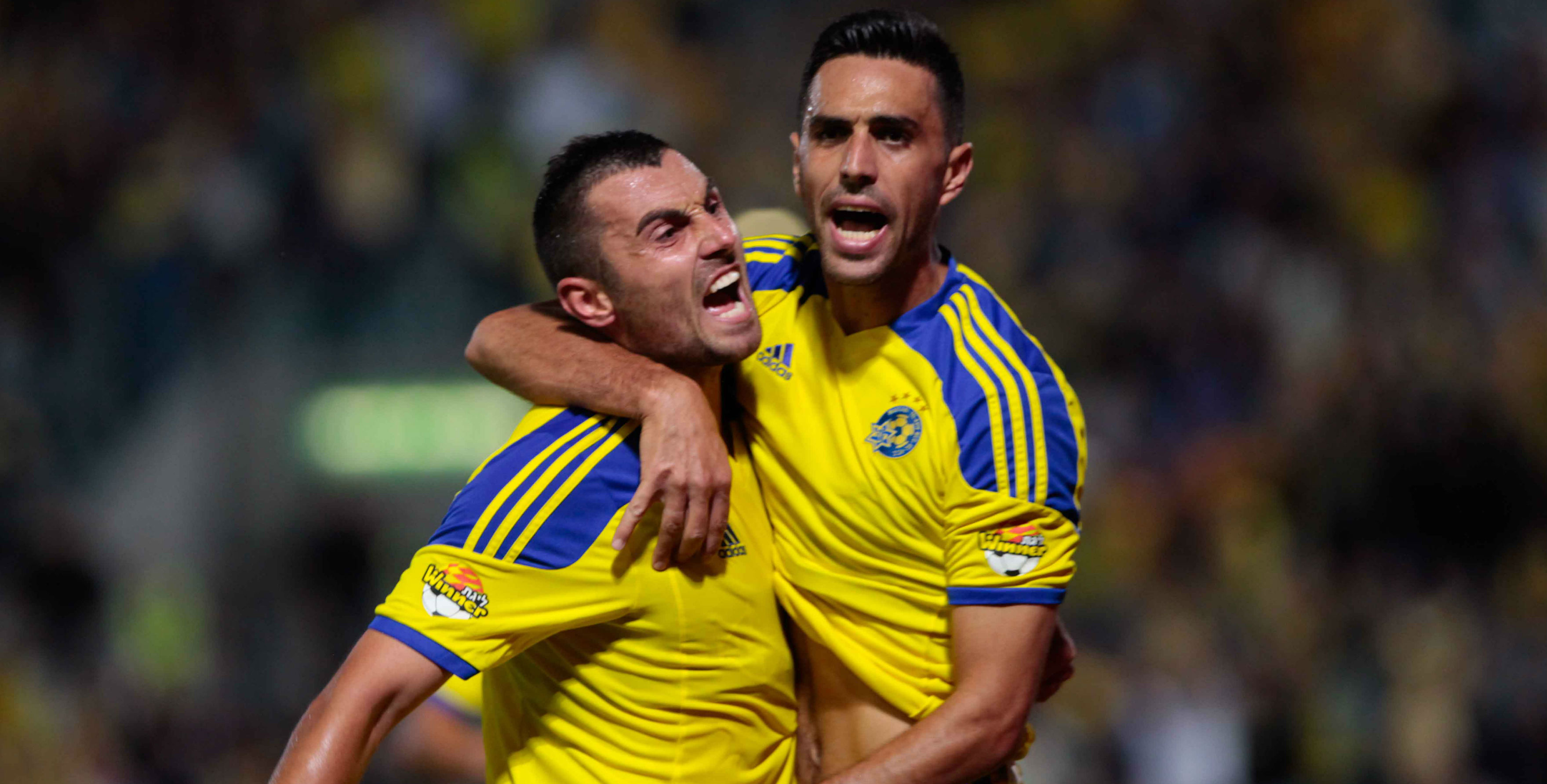 Eran Zahavi & Nikola Mitrovic-Courtesy Maccabi Tel Aviv  Website