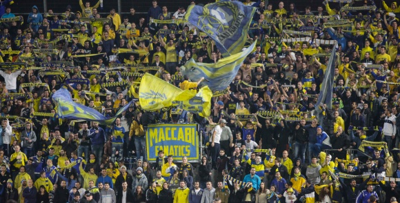 Maccabi Tel Aviv fans-Courtesy Maccabi Tel Aviv website